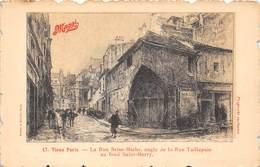 75004-PARIS- LA RUE BRISE-MICHE, ANGLE DE LA RUE TAILLEPAIN AU FOND SAINT-MERRY - Arrondissement: 04