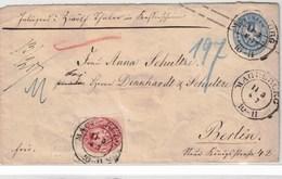 """1863, 2 Sgr. Ganzsachenumschlag Mit Zusätzlich 1 Sgr. Wappen Als Wertbrief Ab """"MAGDEBURG"""" - Prusse"""