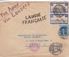 EGYPTE : Cachet  CENSORSHIP DEPT Sur Lettre Par Avion De 1939 Pour La France - Egypt