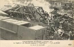 LA CATASTROPHE DE MELUN 4 NOVEMBRE 1913 LE RAPIDE N°2 DE MARSEILLE TAMPONE LE TRAIN POSTE LE LIEU DE LA CATASTROPHE - Melun