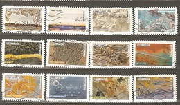 France: Full Set Of 12 Used Stamps, Works Of Nature, 2017, Mi#6927-6938 - Geology