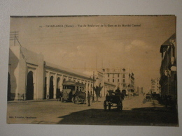 Maroc. Casablanca, Vue Du Boulevard De La Gare Et Du Marché Central (8970) - Casablanca