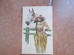 Donnine Woman Cavallo Staccionata A.BERTIGLIA Leggera Piega Centrale - Bertiglia, A.