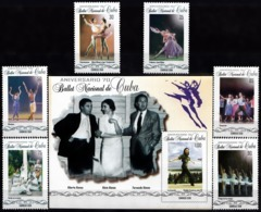 CUBA 2018, MUSICAL ART-70 Years CUBAN NATIONAL BALLET, COMPLETE, MNH SET With BLOCK In GOOD QUALITY *** - Unused Stamps