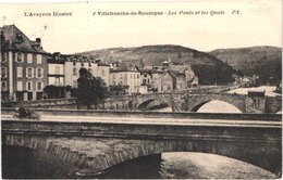 FR12 VILLEFrANCHE DE ROUERGUE - Le Pont Et Les Quais - Belle - Villefranche De Rouergue