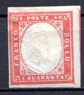 ITALIE (Royaume) - 1862 - N° 8 - 40 C. Rouge - (Effigie De Victor-Emmanuel II) - 1861-78 Victor Emmanuel II
