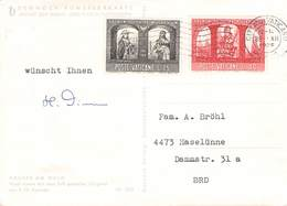 VATIKAN - 3 POSTKARTEN 1964/66 /ak683 - Briefe U. Dokumente