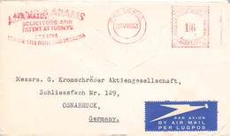 SÜDAFRIKA - AIRMAIL 1953 PRETORIA - OSNABRÜCK /METER/ /ak686 - South Africa (...-1961)