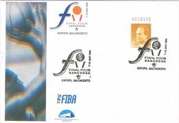 36198. Entero Postal ZARAGOZA 1995. Final Four. BALONCESTO, Basquet, Basquetball - Enteros Postales