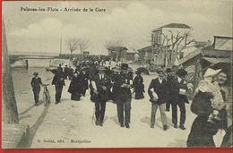 CPA 34- PALAVAS-LES-FLOTS- Arrivée De La Gare-animée- Circulée 1911- Scans Recto Verso-Paypal Sans Frais - Palavas Les Flots