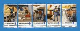 (Mn1) Stati Uniti** - 1973.- Honneurs Aux Employés Du Service Postal - Yvert. 987 à 991 - 5 Valori - MNH.  Nuovi. - Vereinigte Staaten