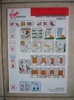 Avion / Airplane / VIRGIN EXPRESS / Boeing B 737 / Safety Card / Consignes De Sécurité - Consignes De Sécurité