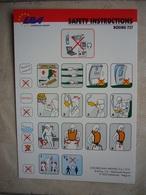 Avion / Airplane / EBA - Eurobelgian Airlines / Boeing B 737 / Safety Card / Consignes De Sécurité - Scheda Di Sicurezza