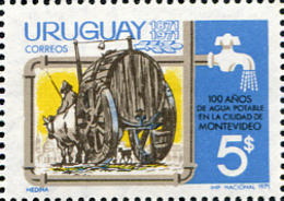Ref. 234977 * NEW *  - URUGUAY . 1971. DRINKING WATER IN MONTEVIDEO 100th ANNIVERSARY. 100 ANIVERSARIO DEL AGUA POTABLE - Uruguay