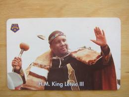 Chip Phonecard, King Letsie III,used - Lesotho
