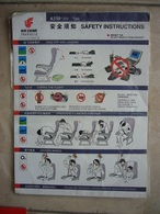 Avion / Airplane / AIR CHINA / Airbus A330-200 / Safety Card / Consignes De Sécurité - Consignes De Sécurité