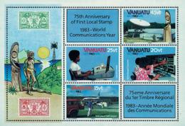 Ref. 49153 * NEW *  - VANUATU . 1983. COMMUNICATIONS WORLD YEAR. A�O MUNDIAL DE LAS COMUNICACIONES - Vanuatu (1980-...)