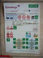 Avion / Airplane / EUROWINGS / Airbus A319 / Safety Card / Consignes De Sécurité - Scheda Di Sicurezza
