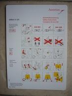 Avion / Airplane / AUSTRIAN / Airbus A320 / Safety Card / Consignes De Sécurité - Consignes De Sécurité