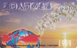 TARJETA DE MACAO DE CTM  MOP10 FILATELIA NUMISMATICA CHINA SILVER (NUEVA-MINT) - Macao