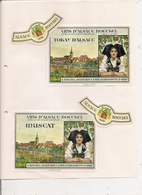 Lot De 4 Etiquettes De Vin D'Alsace  - BOECKEL à Mittelbergheim -  1968 Tokay, Muscat, Pinot, Riesling - Blancs