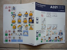 Avion / Airplane / LUFTHANSA / Airbus A321-100/200 / Safety Card / Consignes De Sécurité - Scheda Di Sicurezza