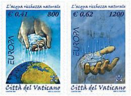 Ref. 77563 * NEW *  - VATICAN . 2001. EUROPA CEPT. WATER; A NATURAL TREASURE. EUROPA CEPT. EL AGUA; RIQUEZA NATURAL - Vaticano