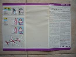 Avion / Airplane / UNITED / Boeing B 737-300/ Safety Card / Consignes De Sécurité - Scheda Di Sicurezza