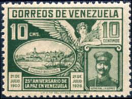 Ref. 178988 * NEW *  - VENEZUELA . 1928. 25TH ANNIVERSARY OF PEACE IN VENEZUELA. 25 ANIVERSARIO DE LA PAZ EN VENEZUELA - Venezuela