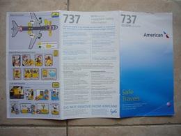 Avion / Airplane / AMERICAN / Boeing B 737 / Safety Card / Consignes De Sécurité - Consignes De Sécurité