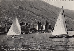 MALCESINE-VERONA-LAGO DI GARDA-CROCE ROSSA-CARTOLINA VERA FOTOGRAFIA VIAGGIATA IL 18-10-1957 - Verona