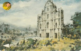 8MACB TARJETA DE MACAO DE LAS RUINAS DE S. PAULO DE CTM MOP50 - Macau
