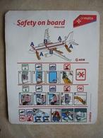 Avion / Airplane / AIR MALTA / Airbus A319 / Safety Card / Consignes De Sécurité - Scheda Di Sicurezza