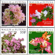 Ref. 231240 * NEW *  - WALLIS AND FUTUNA . 2009. FLOWERS - BOUGAINVILLEAS. FLORES - BONGAVILIAS - Wallis Y Futuna