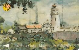 8MACA TARJETA DE MACAO DE FAROL DA GUIA DE CTM MOP100 (LIGHTHOUSE) - Macao