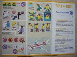 Avion / Airplane / COPA AIRLINES / Boeing B 737-800 / Safety Card / Consignes De Sécurité - Scheda Di Sicurezza