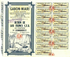 GABON-NIARI, 500 Francs - Africa