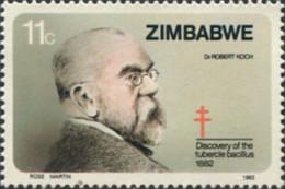 Ref. 576198 * NEW *  - ZIMBABWE . 1982. 100th ANNIVERSARY OF THE DISCOVERY OF THE BACILE OF TUBERCULOSIS. 100 ANIVERSARI - Zimbabwe (1980-...)