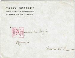 CTN60/1 -  EMA 15c SUR ENVELOPPE PRIX NESTLE - Marcophilie (Lettres)