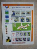 Avion / Airplane / WIND JET / Airbus A320 / Safety Card / Consignes De Sécurité - Scheda Di Sicurezza