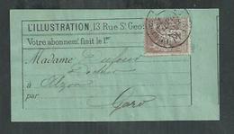 Type Sage No 88 4cts Lilas Brun Sur étiquette De L'illustration Et Ob Imprimés Paris PP 18 - 1876-1898 Sage (Type II)