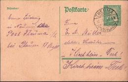 ! Alte Ganzsache, Deutsches Reich, 1925  Aus Theuma Im Vogtland Bei Plauen - Allemagne