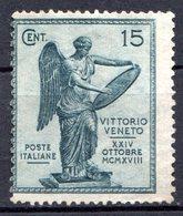 ITALIE (Royaume) - 1921 - N° 115 - 15 C. Ardoise - (3è Anniversaire De La Victoire De Vittorio Veneto) - 1900-44 Victor Emmanuel III