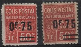 FR/CP 17 - FRANCE Colis Postaux N° 91 Neuf* Paire Avec Variété De Couleurs - Ungebraucht