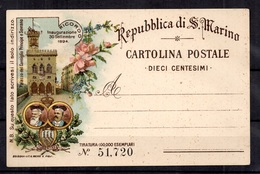 Saint-Marin Entier Postal De 1894 Neuf. TB. A Saisir! - Entiers Postaux