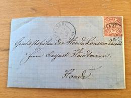 FL2880 NDP 1868 Brief Von Lippstadt Nach Hörde - Norddeutscher Postbezirk
