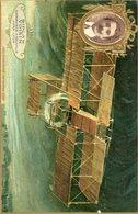 CARTE LU LEFEVBRE UTILE AVIATION - BIPLAN VOISIN - EXPERIENCE A NEUVILLE Près Lyon - ....-1914: Précurseurs