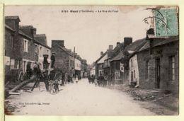 Anc076 GUER 56-Morbihan Rue Du FOUR Attelage Poutre Scieurs De Long Animation Villageoise 1922 / Mary ROUSSELIERE 2251 - Guer Coetquidan
