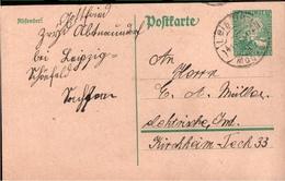 ! 1925 Paketkarte Deutsches Reich, Abtnaundorf, Leipzig, Sachsen Nach Kirchheim Teck - Covers & Documents