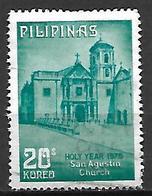 PHILIPPINES    -    1974 .  Eglise Saint Augustin.   Oblitéré - Philippines